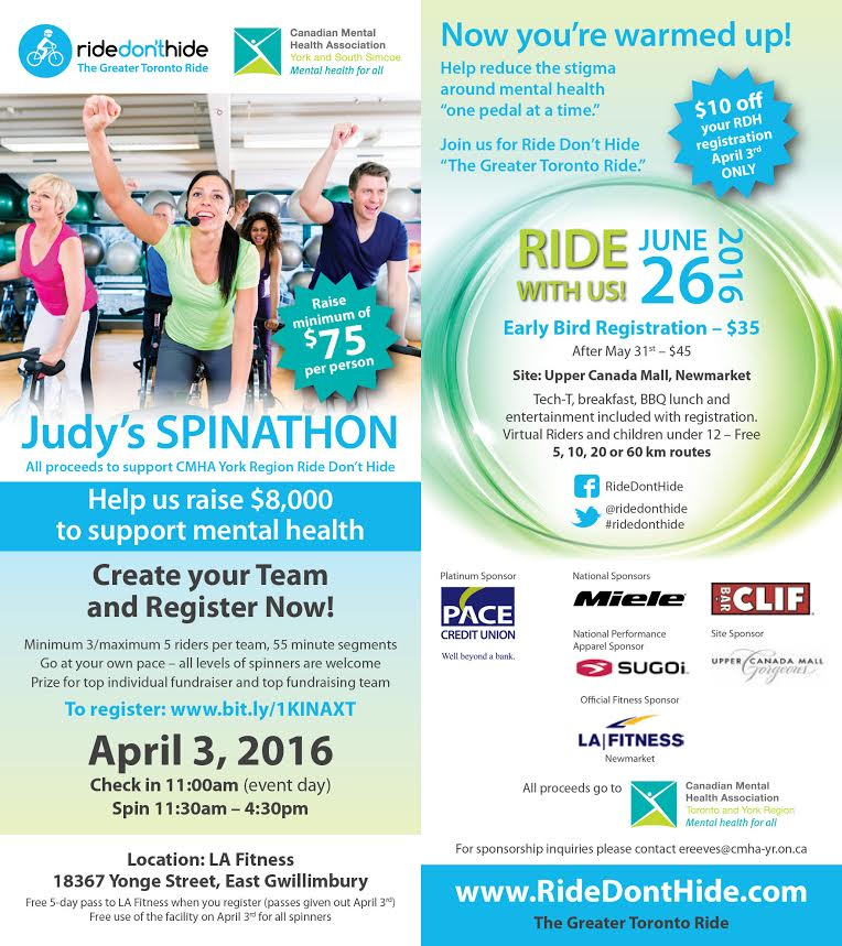 Judy's Spinathon and Ride Don't Hide Soft Launch
